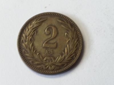 Rakousko-Uhersko FJI - 2 filler - 1895