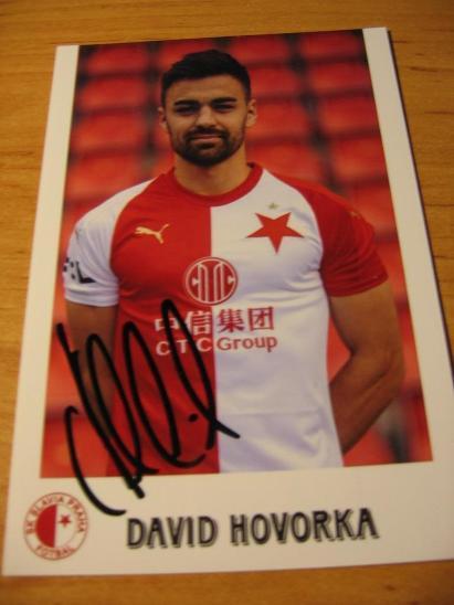 David Hovorka - Slavia Praha - orig. autogram  - Ostatní