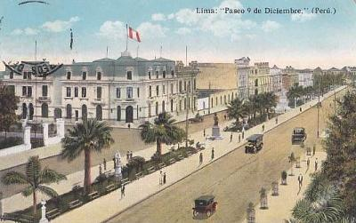 PERU - LIMA - PASEO COLON - ULICE - AUTA - 20-XX6