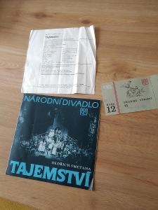 Divadelní programy - Národní divadlo 1988+lístek