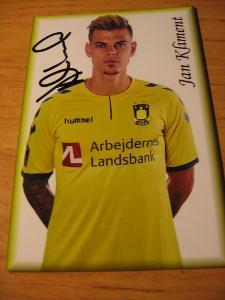 Jan Kliment - Brøndby IF - orig. autogram