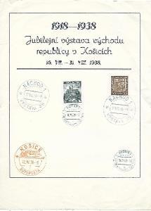 Pamětní list Košice 1938