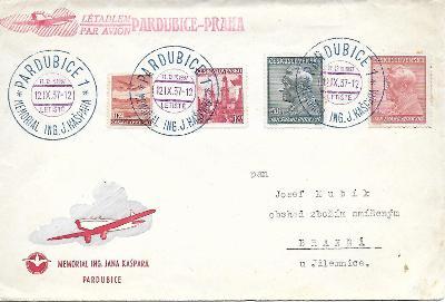 Pamětní obálka Pardubice 1937 letectví