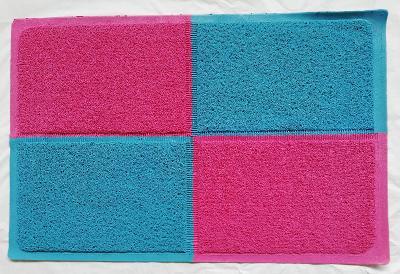 Předložka -rohožka koupelnová 60x90 cm vzor OBDÉLNÍKY