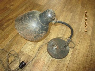 vzácná stará stolní lampička Siemens