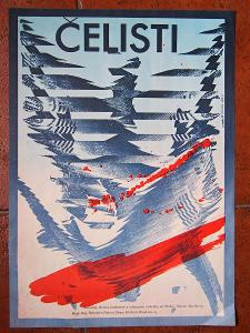 Ziegler Zdeněk - Čelisti / Jaws. Filmový plakát 1987, originál! A3