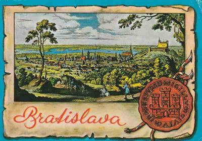 Bratislava, Mattheus Merian - Pohled na Bratislavu
