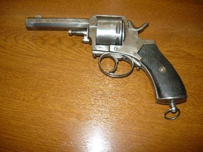 Belgický revolver BRITISCH BULDOG cal.44.