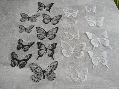 Samolepky na zeď - 3D motýlci