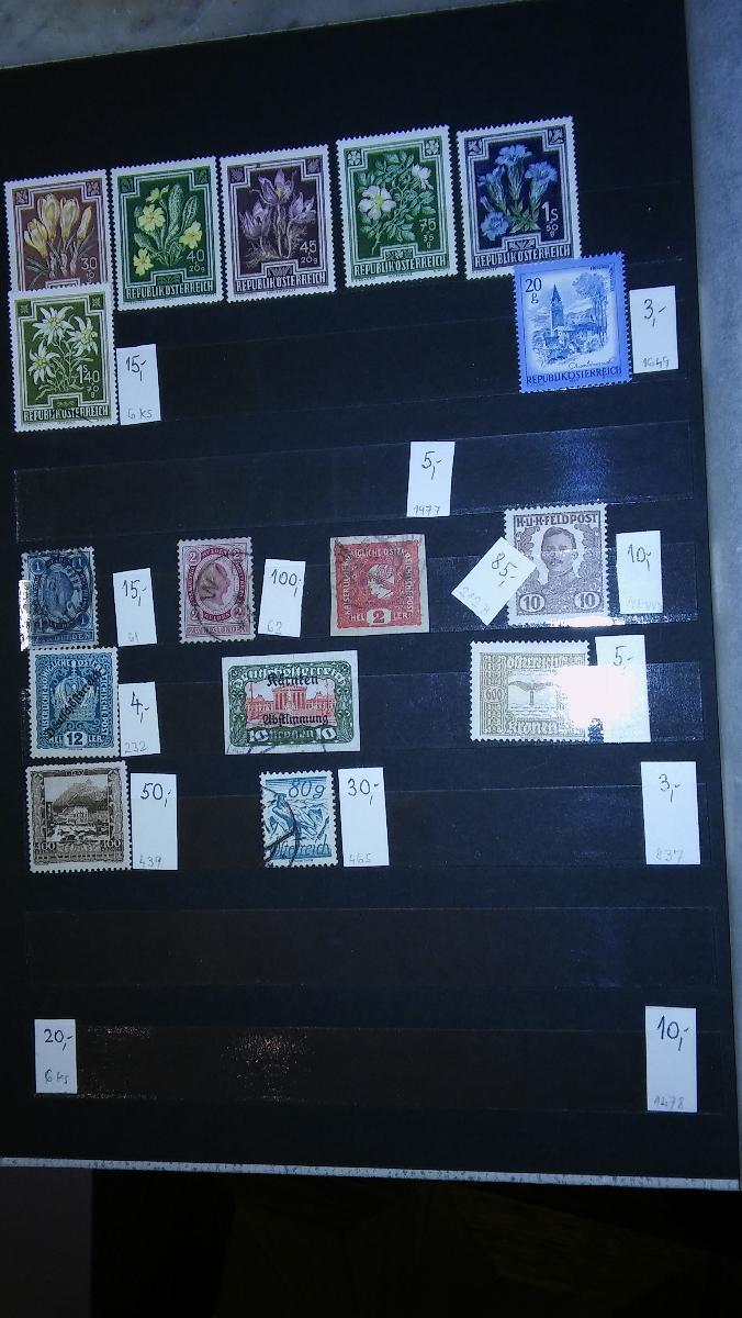 Staroněmecké státy a Rakousko-vyceněno - Filatelie