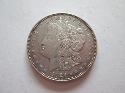 "1 Dollar 1921 ""Morgan Dollar"", Ag 900, 38,1 mm"