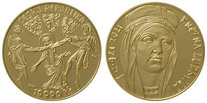 ZM 10000 Kč k 1100. výročí úmrtí kněžny Ludmily proof