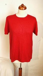 Jemný kašmírový svetr červený, HEDVÁBÍ KAŠMÍR
