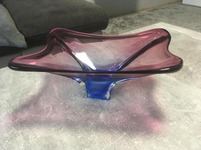 Hutní sklo, krásná mísa č.2