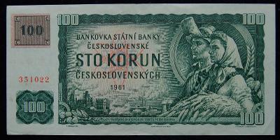 ČSSR - 100 Kčs 1961 kolek série: G 40