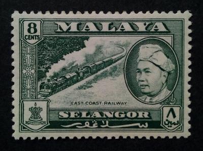 Malajsie - Malaya SELANGOR 8c vlak