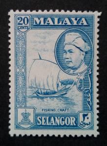 Malajsie - Malaya SELANGOR 20c