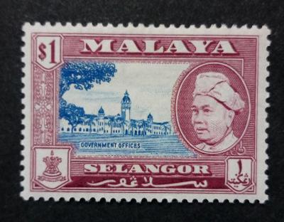 Malajsie - Malaya SELANGOR 1$