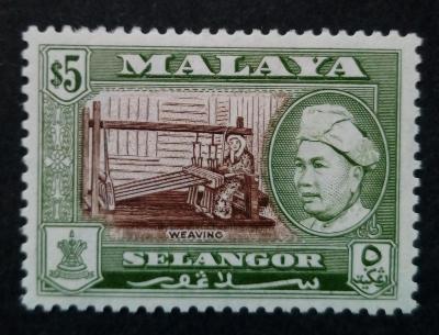 Malajsie - Malaya SELANGOR 5$