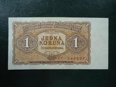 1 Koruna  1953   Serie TC   Neperforovana UNC