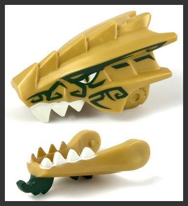 LEGO Ninjago - figurka Dračí hlava