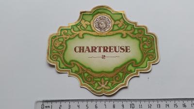 etiketa likér bylinný Chartreuse