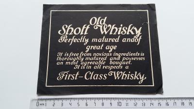 etiketa Old Shott Whisky