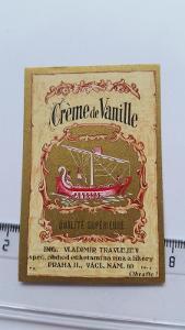etiketa likér Vanilka