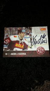 Foto s podpisem Andrej Kudrna (HC Sparta Praha) - hokej