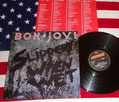 💥 LP: BON JOVI - SLIPPERY WHEN WET, jako nová NM 1.press Holland 1986