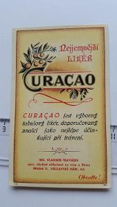 etiketa likér Curacao