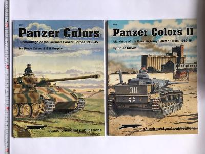 Knihy Panzer Colors I. a II. Maskování německých tanků