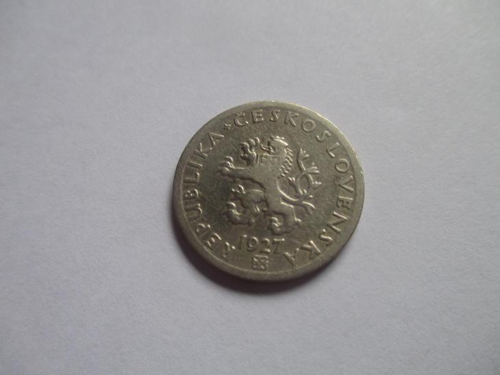 Vzácněj prvorepublikový 20 haléř 1927 - Numismatika