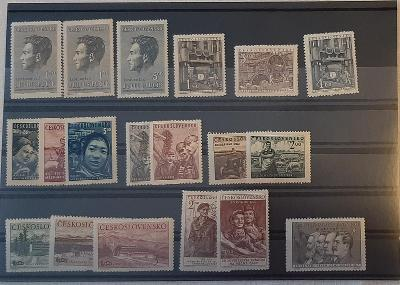 ČSR 1951 - různé série