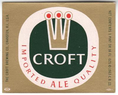 USA Croft Brg - Cranston 11 -IMPORTED - jiný obsah