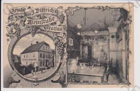 Hrádek nad Nisou (Grottau) - Liberec ,  vinárna Di