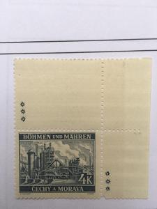 Protektorát 1939 Krajiny,hrady,města I. pof.37II kupon horní s dz*