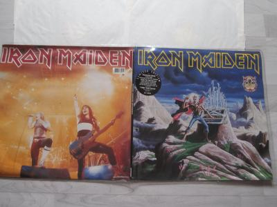 2x LP MAXI SINGLE - IRON MAIDEN - RUNNING FREE, RUN TO THE HILLS