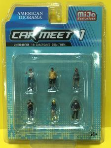 figurky k modelům - Car meet 1  - 1/64 American Diorama (L8-469)