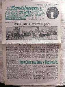 NOVINY - Zaměstnanec půdy - ročník 13 číslo 18 rok 1935