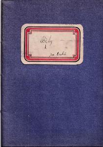 Zápisník modrý, první polovina 20.století