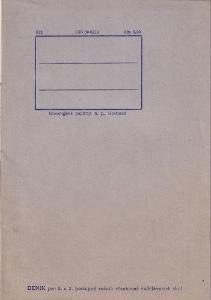 Zápisník šedý, první polovina 20.století