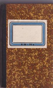 Zápisník hnědý, první polovina 20.století