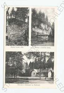 Příběnice Tábor  koláž více záběrů zříceniny hradu