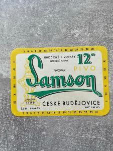 Pivní etikety Samson Originál 49