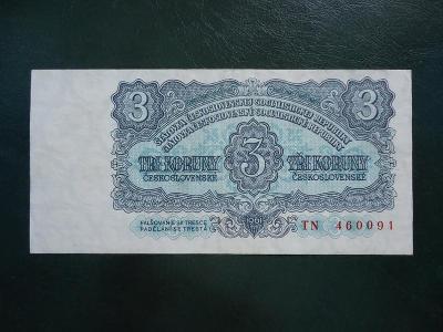 3 Korun 1961 Serie TN Neperforovana Moc Hezka