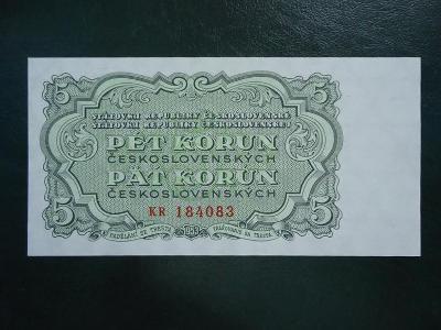 5 Korun 1953  Serie KR  Neperforovana UNC