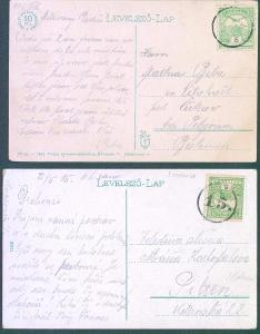 13B168 Bosenské okresní razítko na uherské známce - vzácné R! - dva x