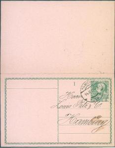 13B176 Dvojitá celina s přítiskem- Ant. Himmelbauer, Wien- dekorativní
