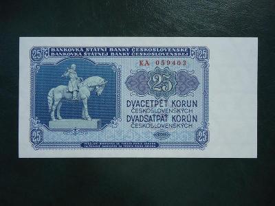 25 Korun 1953 Serie KA Neperforovana UNC